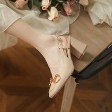 Genuíno couro de vaca muller chinelos confortáveis e convenientes sapatos femininos meados de salt