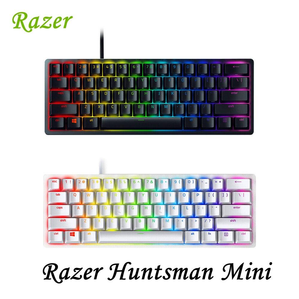رازر هانتسمان لوحة مفاتيح الألعاب الميكانيكية الصغيرة كليكي البصرية/الخطي مفاتيح مفاتيح مفاتيح RGB السلكية للاعبين الكمبيوتر شحن مجاني