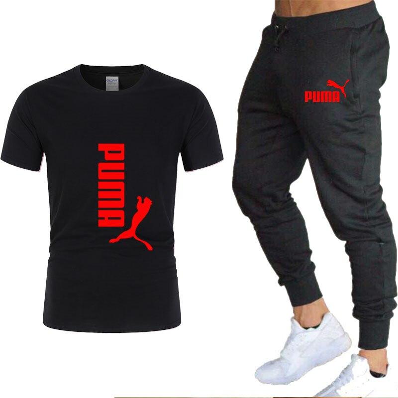 Summer new brand PUMA men's cotton T-shirt, future men's Tracksuit Men classic T-shirt series, casual T-shirt, short-sleeved Te
