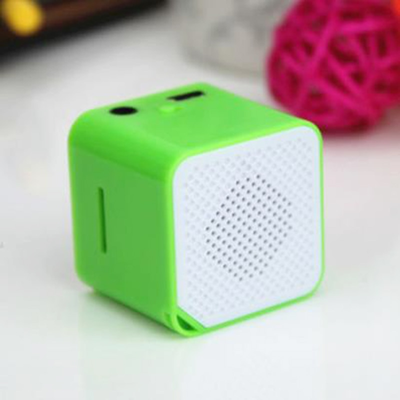 Mini Wireless Speaker Support TF Card USB Player Cube Shape Portable Audio Music Player Shockproof Outdoor Speakers