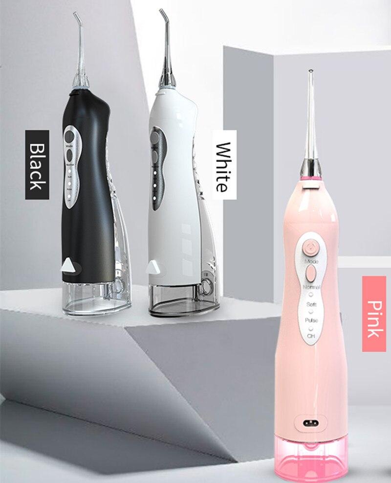 Elektrische Monddouche Oplaadbare Draadloze Water Tanden Bleken 3 Modi Water Jet Floss Tanden Cleaner Voor Familie Reizen enlarge