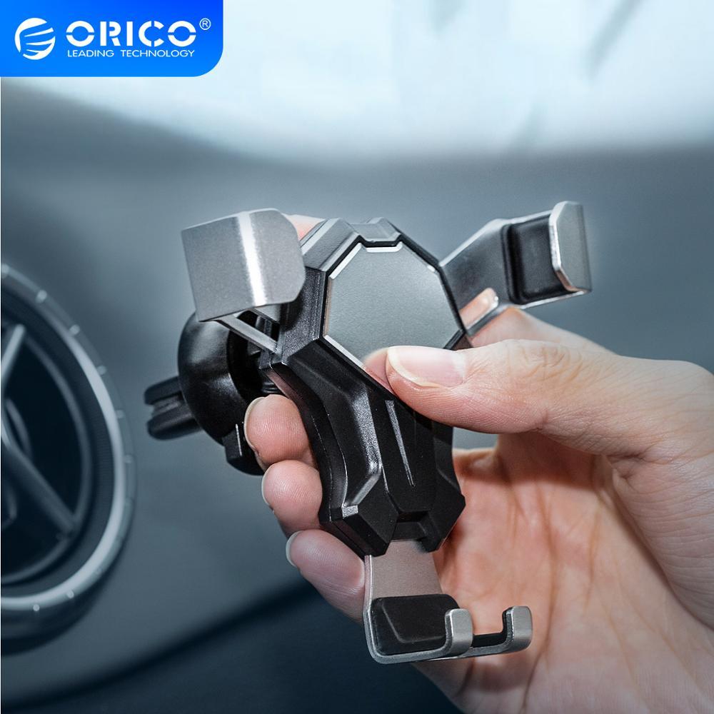 Soporte ORICO para coche, soporte de ventilación de aire para coche, soporte para teléfono móvil de 4 a 6,5 pulgadas, soporte para teléfono móvil de gravedad, soporte para teléfono inteligente para iphone
