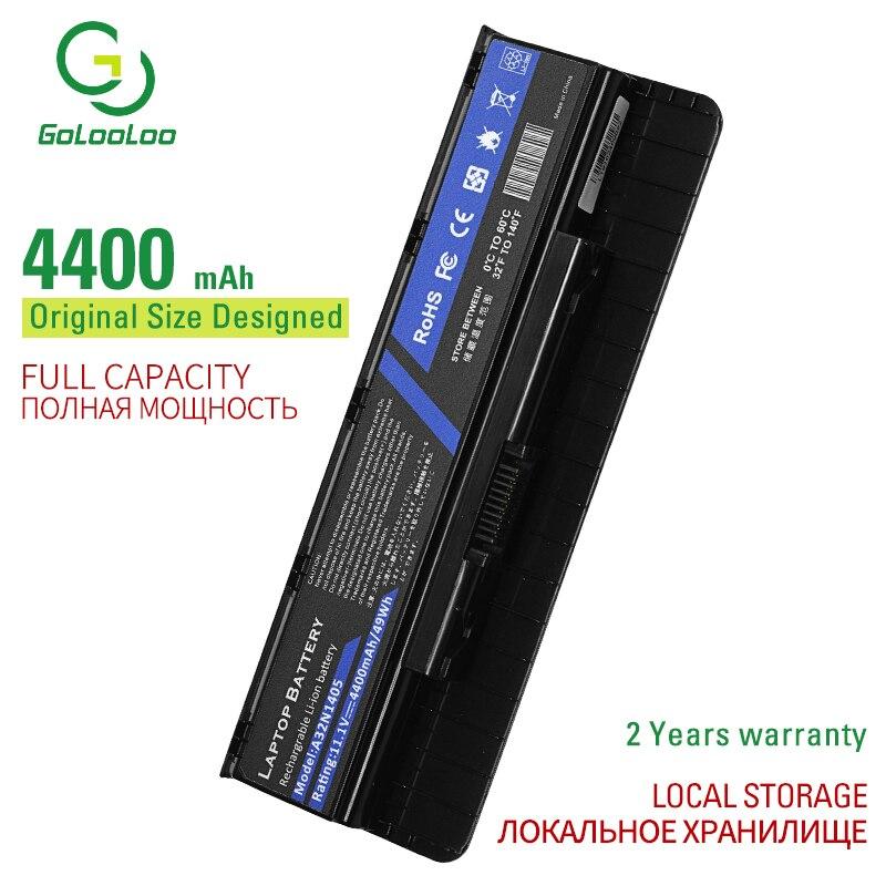 Golololo bateria portátil 4400 mah a32n1405, bateria para laptop asus g551 g551j g771 g771j excel n551j