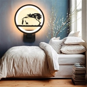 Nordic Household Wall Lamp LED Bedroom Bedside Lamp Simple Modern Round Wall Lamp for Living Room Aisle Staircase Lamps