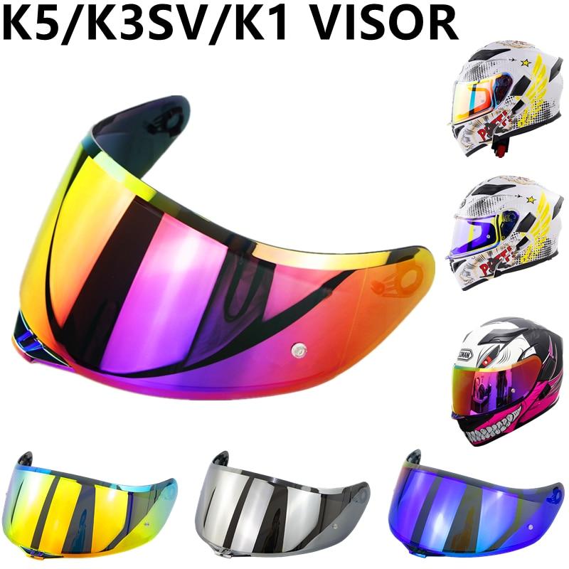 New K5 Helmet Visor Purple Red Gold Full Face Motorcycle Helmet Visor for K1 K3SV K5 Capacete Lens Shield