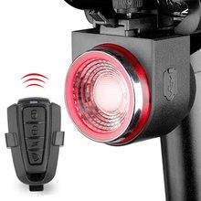 Audio Visual Warning Lamp Braking Light Anti-theft Alarm Wireless Control LED Lantern Remote Call Bike Finder Siren A8 700mAH