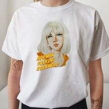 T-Shirt manches courtes femme Lana Del Rey Norman Rockwell, mignon, musique, Hipsters, à la mode, HAHAYULE-JBH