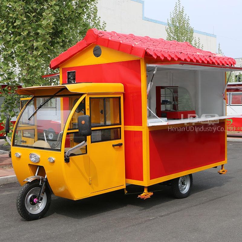 Triciclo eléctrico de comida móvil, camión de comida de helado Tuk twigio Ape, a la venta