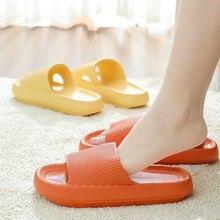Home Soft Slippers Ladies/men's Thick Bottom Slipper Women Indoor Bathroom Anti-slip Floor Slides De