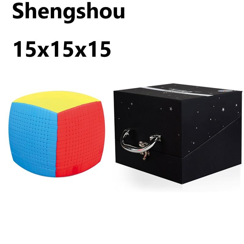 Puzle mágico 15x15x15x15 DE Shengshou de 15 capas sin pegatina de 10,6 cm para niños