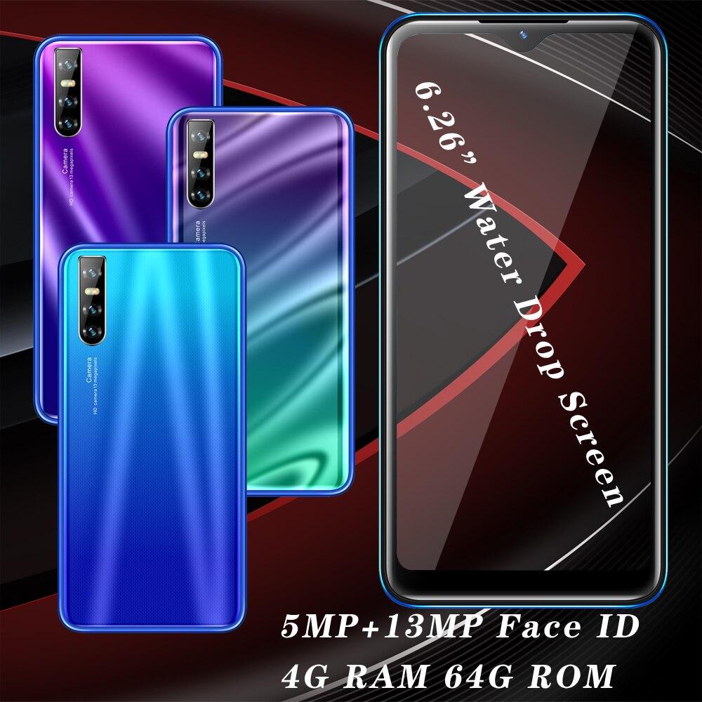 هاتف ذكي بشاشة 6.26 بوصة ، هاتف ذكي X2 ، غير مقفول ، Android 5.1 ، MTK ، رباعي النواة ، شاشة قطرة الماء ، 4 جيجا بايت رام ، 64 جيجا بايت روم