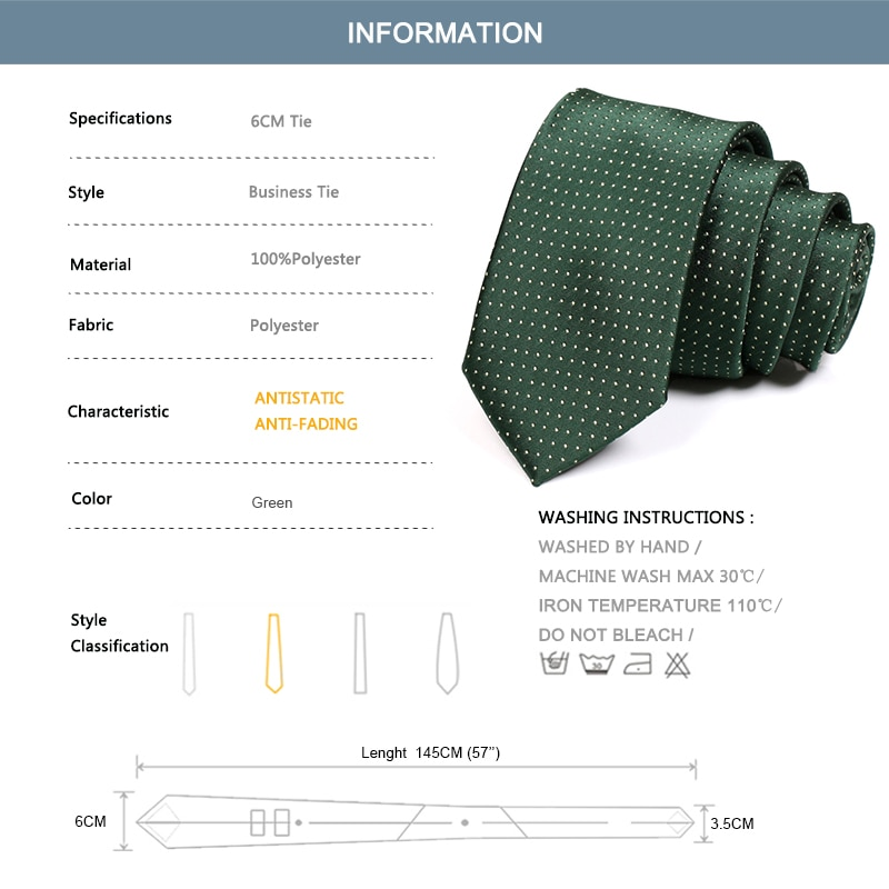 2020 New Men 6CM Green Tie High Quality Business Suit Work Neck Tie For Men Fashion Formal Necktie Male Slim Ties With Gift Box