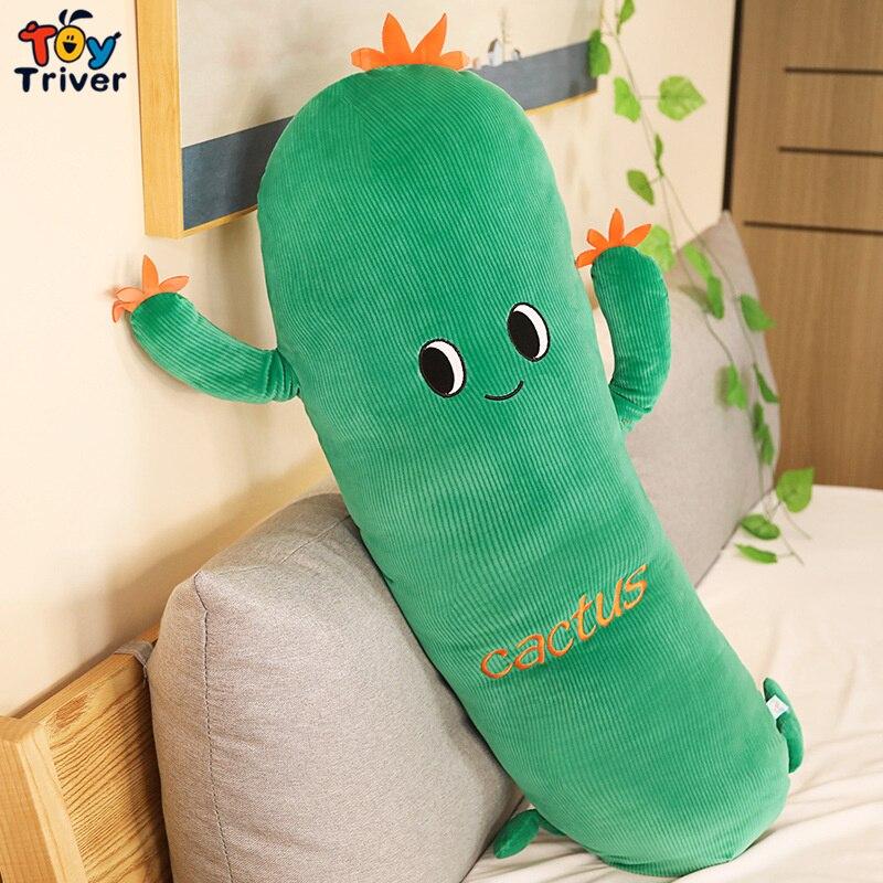 Милые плюшевые игрушки с цветами, растениями, кактусами, набивная кукла, подушка, детский подарок для мальчиков и девочек, декор для комнаты ...