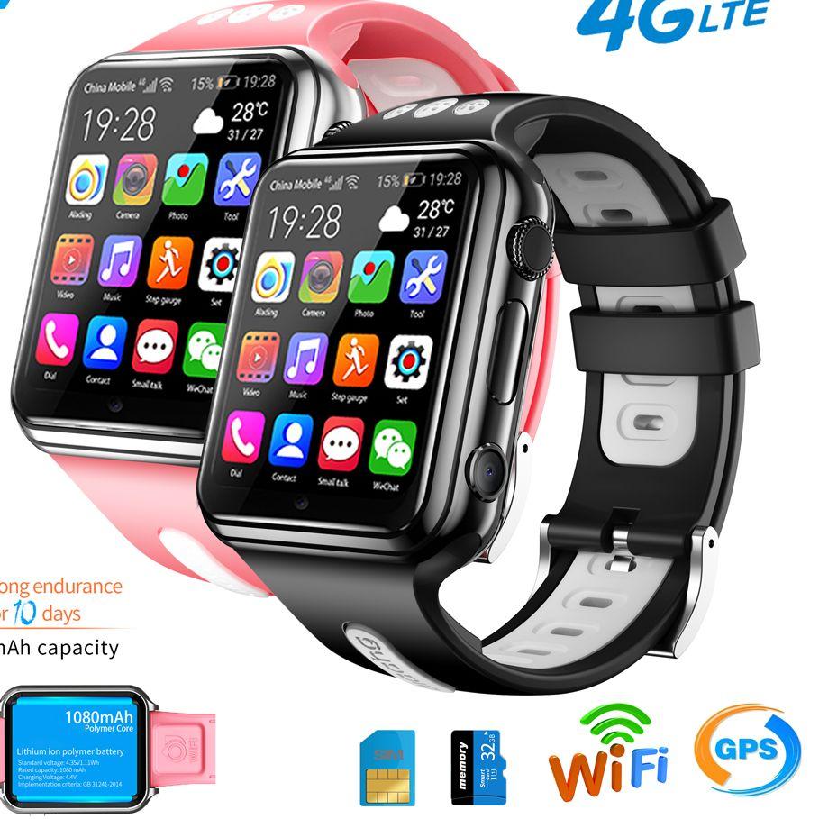Novo Wifi Localização Estudante – Crianças Relógio Inteligente Telefone h1 w5 Sistema Android App Instalar Bluetooth Smartver Sim Cartão 4g Gps