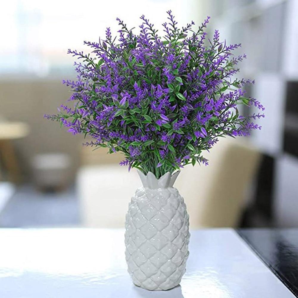 6 uds. Hechas a mano de lavanda de flores, plantas de vegetación natural, ramo de flores para decoración del jardín