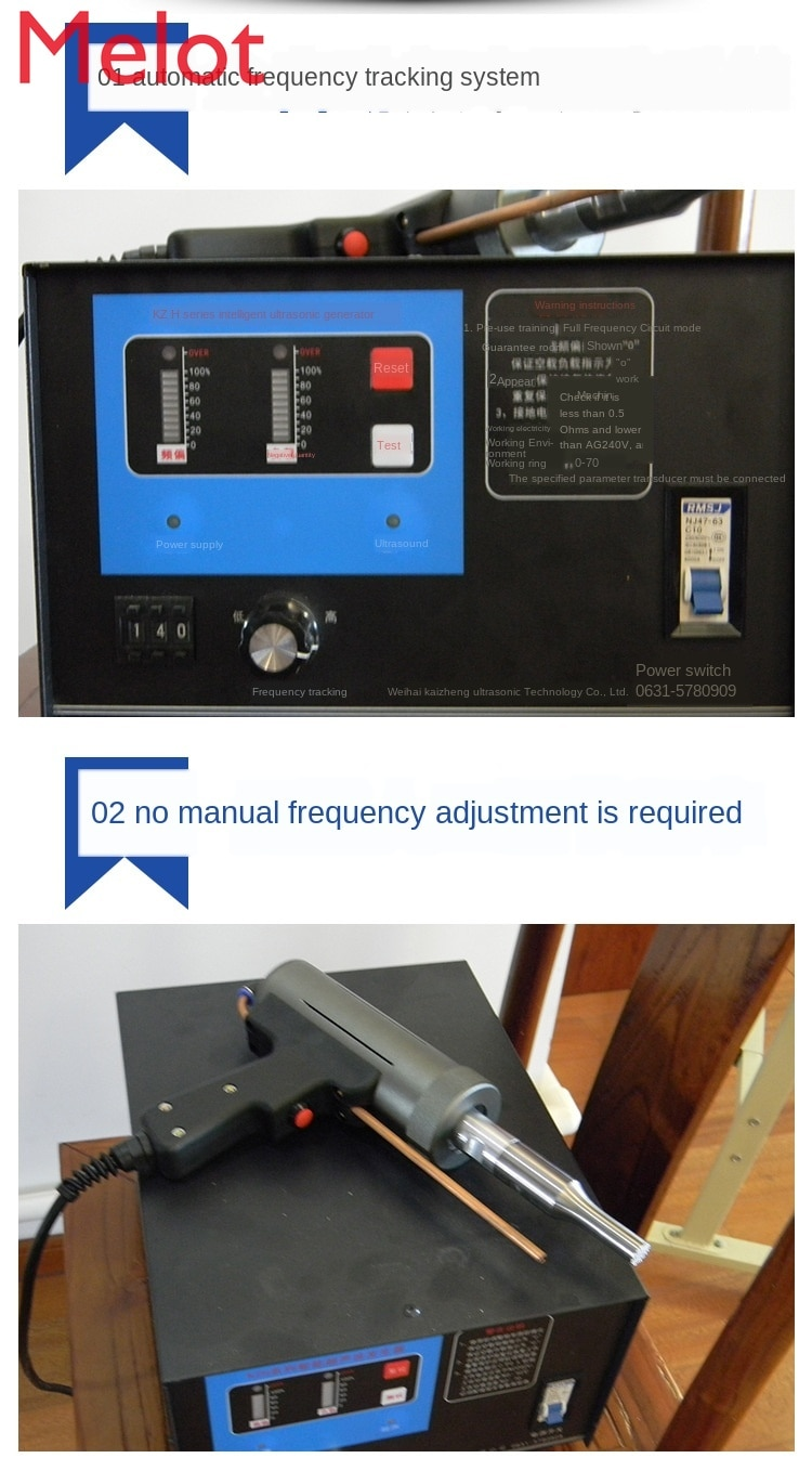 Manufacturers Produce Hot Handheld Ultrasonic Spot Welder with Stable Output of 1200W/28KHz enlarge