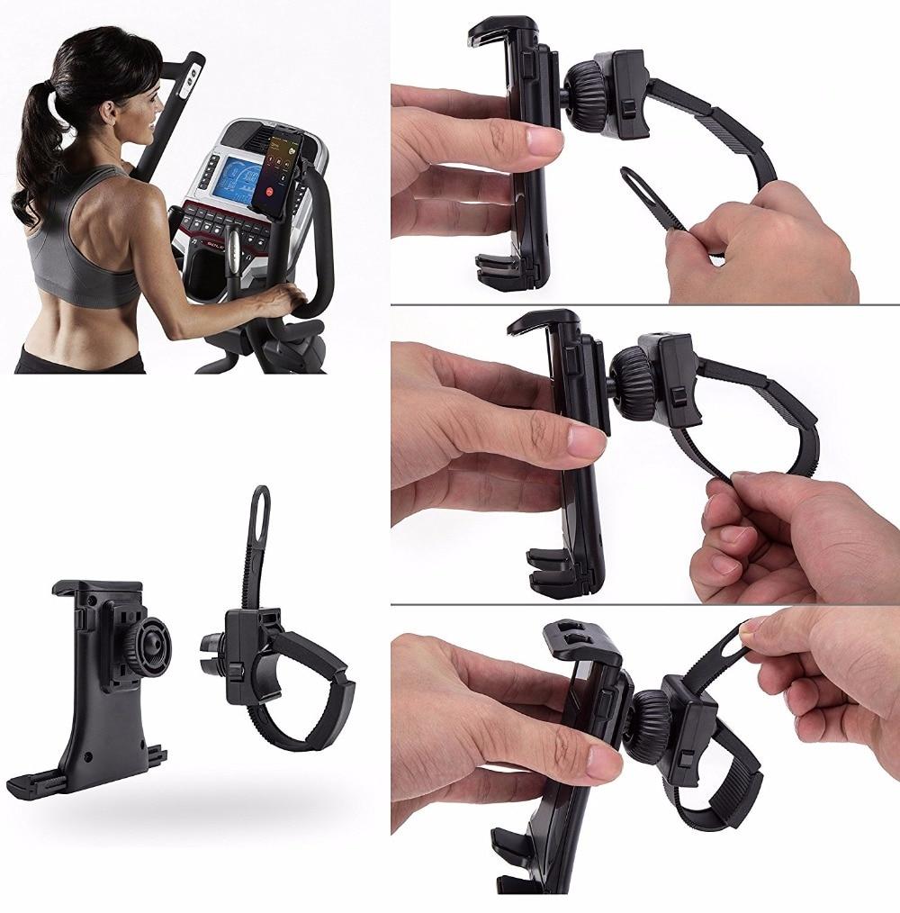 Soporte de tableta con hebilla Flexible, manillar de gimnasio giratorio para bicicleta, bicicletas de ejercicio para ipad pro air 10,1 10,5 10,2 9,7 pulgadas tab
