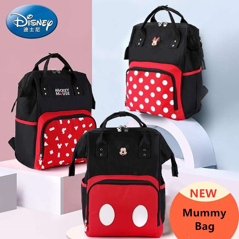 Disney Mickey Minie Mummy Diaper Bag large capacity multifunctional stroller Nappy bag water proof maternity baby backpack disney mickey mouse diaper bag waterproof baby care mummy bag maternity backpack large nappy bag oxford cloth baby bag