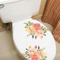MAMALOOK nouveau Style fleurs colorees Rose pivoine belle Stickers muraux autocollants de toilette salle de bains decoration de la maison mur decalcomanie decor