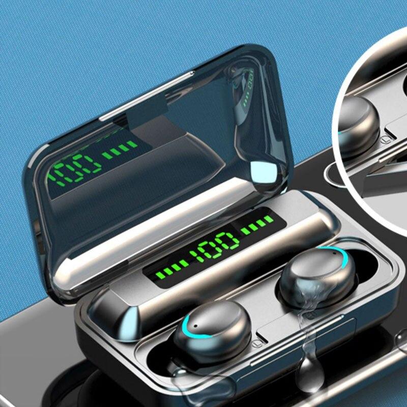 Auriculares inalámbricos TWS 5,1 auriculares Bluetooth impermeable de deportes auriculares pantalla Digital...