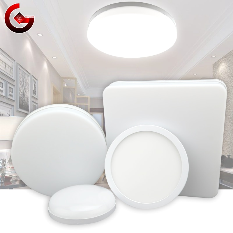 Led Ceiling Light 48W 36W 24W Panel Round Surface Mount 18W 13W 9W 6W AC 85-265V Ultrathin Square Lamp