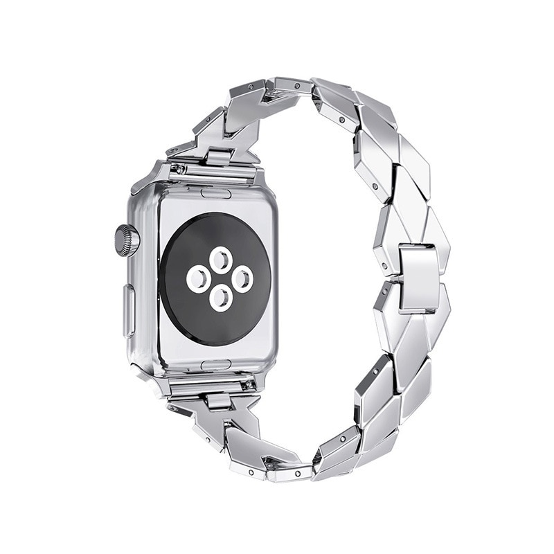 2 pcs strap for apple watch band 44 mm 40mm iwatch band 42mm 38 mm stainless steel bracelet milanese loop apple watch 4 5 3 2 1 For apple watch band woman strap 44 mm 42mm 38 mm 40mm stainless steel bracelet wrist band for iwatch 6 se 5 4 3 2 1 metal belt