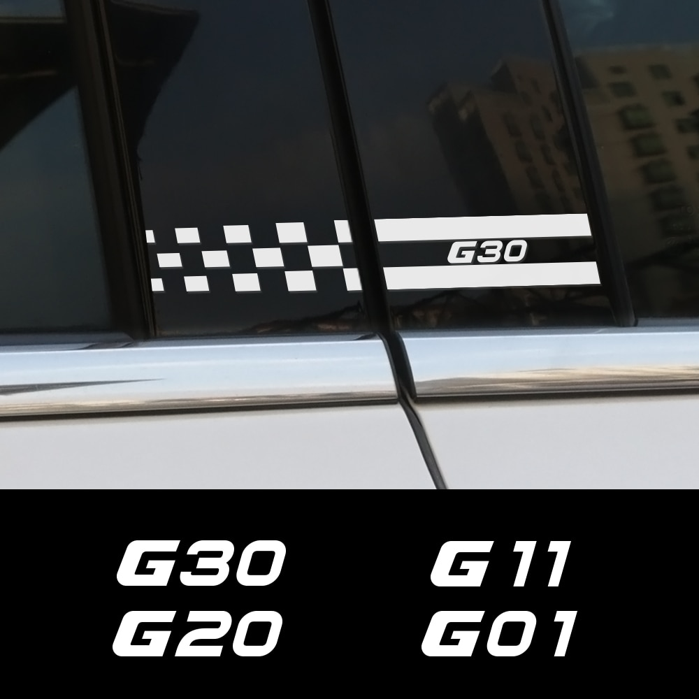 2PCS Car B Pillar Stickers For BMW G30 G20 G11 G01 G02 G05 G06 G07 G08 G12 G14 G15 G16 G21 G31 Automobile DIY Car Accessories