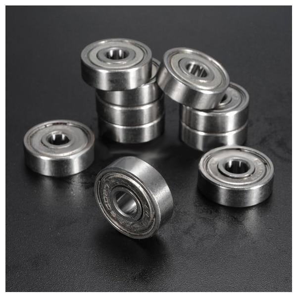 10pcs Miniature Sealed Metal Shielded Metric Radial Ball Bearing Model: 627-ZZ 7x22x7Mm