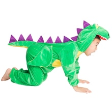 Kids Child Cartoon Animal Dinosaur Costume Cosplay Jumpsuit for Boys Girls Halloween Party Mardi Gras Fancy Dress Headgear