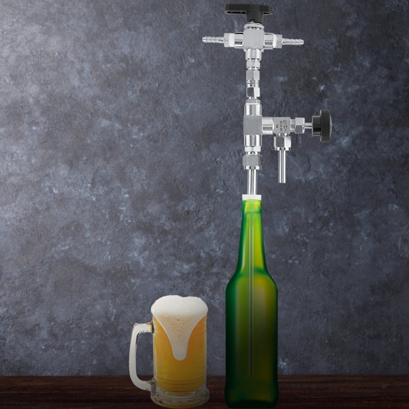 LIXF Kit de elaboración de cerveza CO2 a presión de acero inoxidable