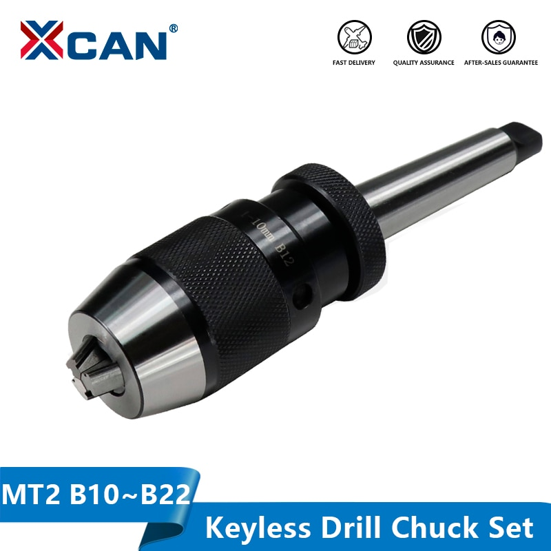 Mandril de taladro sin llave XCAN B10 B12 B16 B18 B22 con vástago de taladradora CNC MT2 Morse