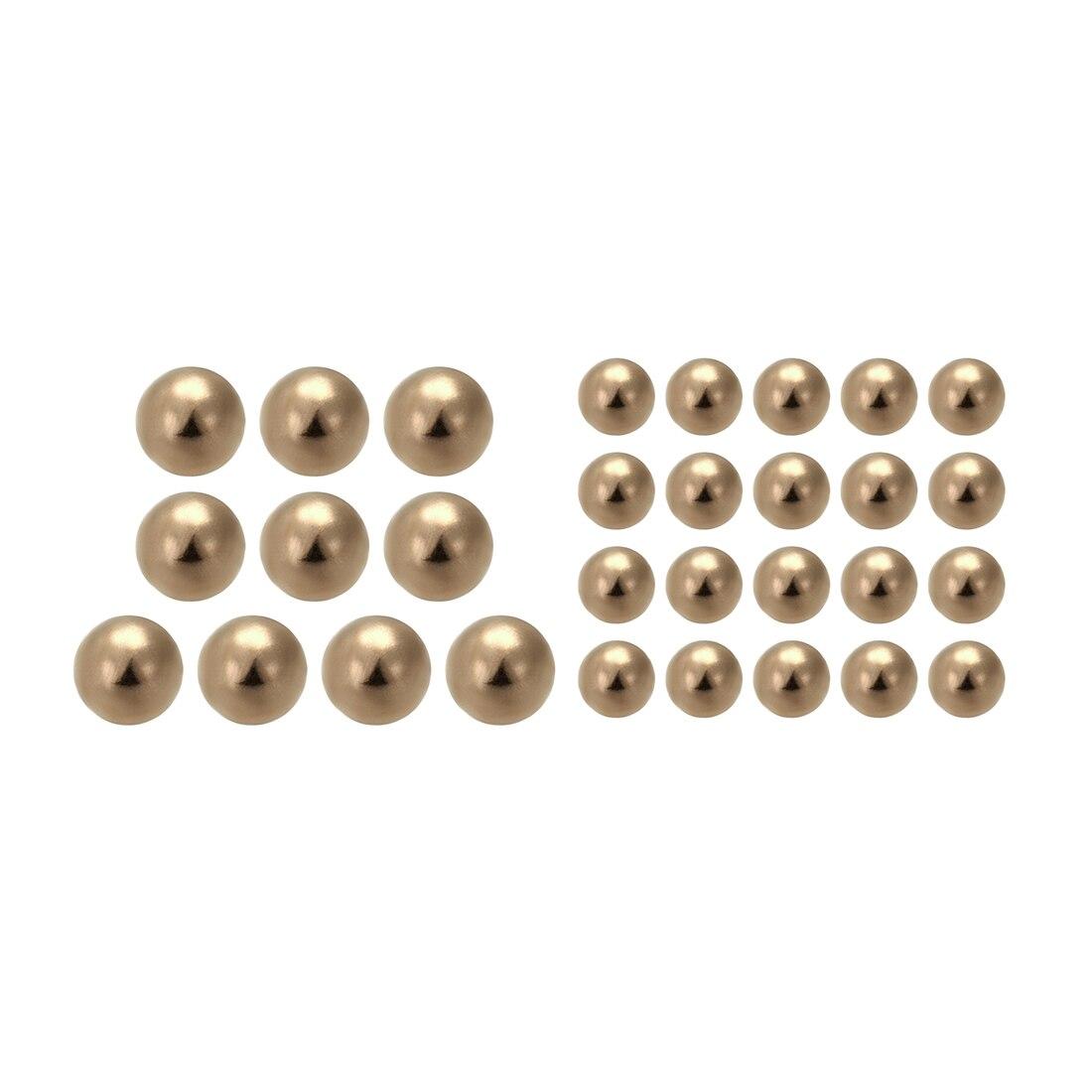 Bolas de cojinete de latón macizo de precisión métrica uxcell 5-100 Uds 2,8mm 6mm 6,8mm 8mm 12mm 15mm para bicicletas, cerraduras de puerta de ruedas