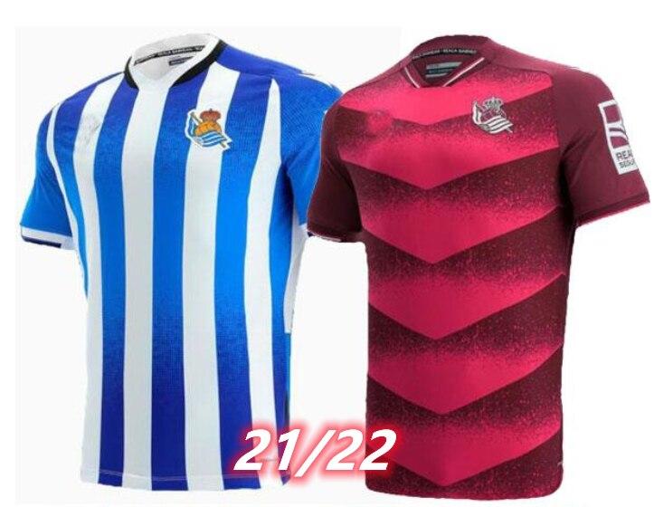 Nuevo 2021-22 RS hogar jerséis camiseta Oyarzabal Willian José Portugues SA Igor...
