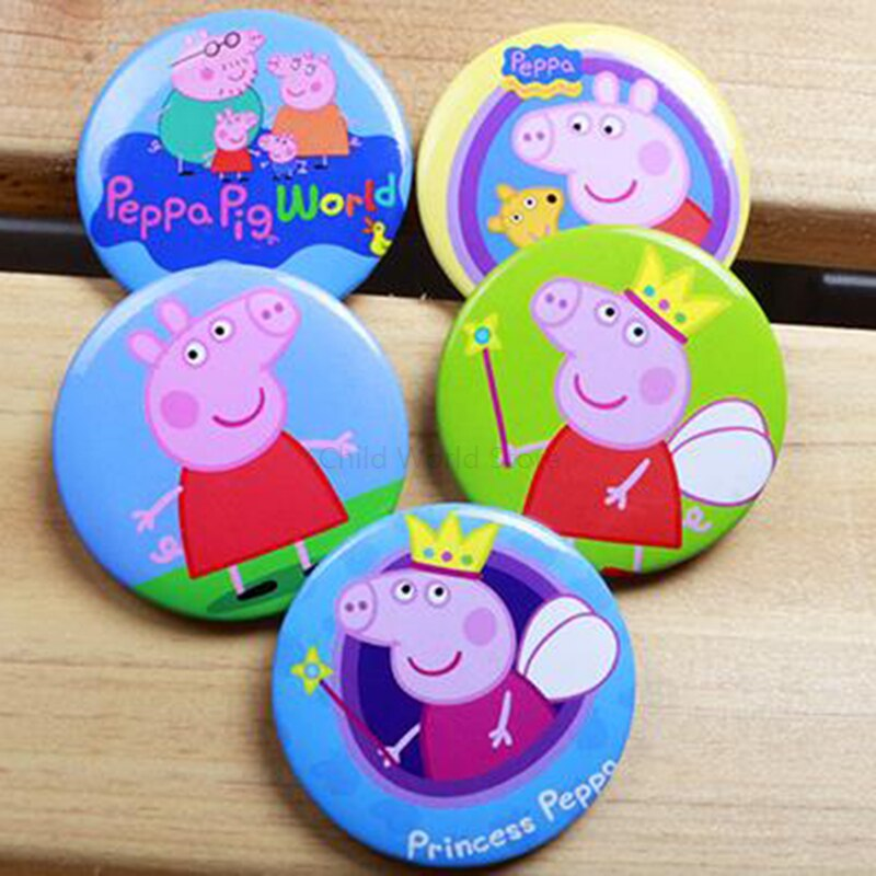 AliExpress - Peppa Pig Badge Birthday Party Decorations Kids Anime Figure Cartoon Small Badges for Clothes Party Dress Boys Girls Toys P09