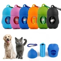 outdoor portable pet poop bag dispenser pet trash box cleaning supplies dog poop bags dogs accessories dog products