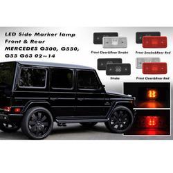 2 pçs x frente & 2 pcsxback led lado marcador lâmpada para mercedes benz g-class g500 g550 g55 g63 2002-2014