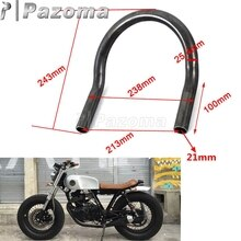 "1 ""25 Mm Motorfietsen Cafe Racer Upswept Achterbank Frame Hoop Loop Tracker End Voor Honda Cb Yamaha Xs sr Xj Suzuki Gs Kawasaki Kz"