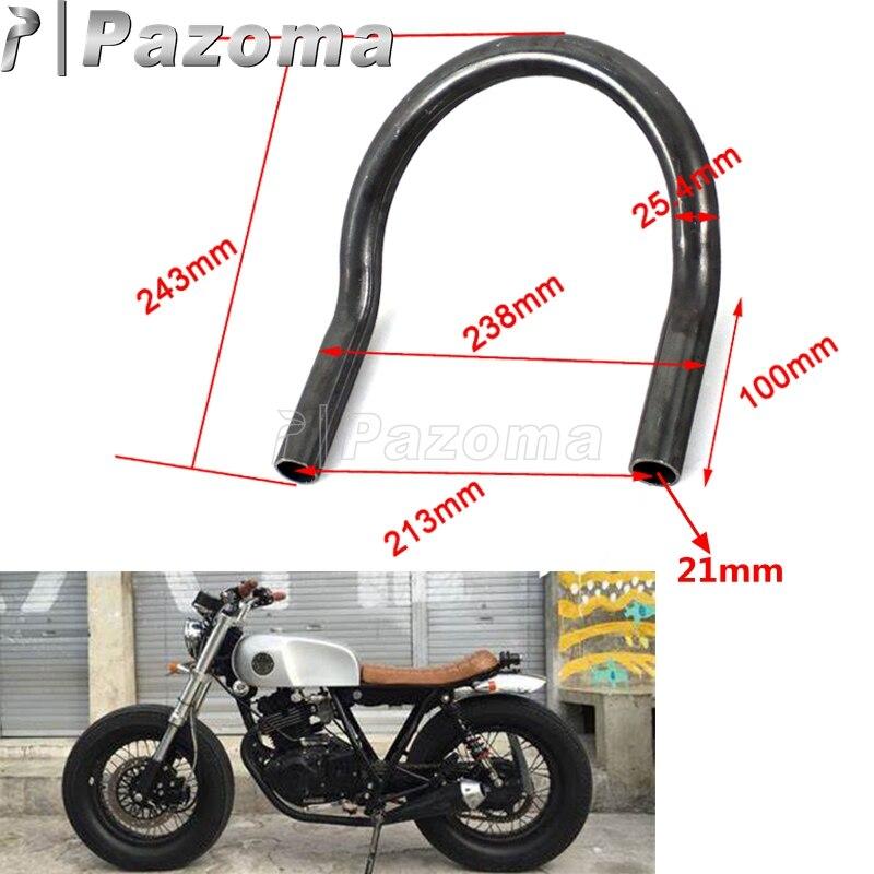 "1"" 25MM Motorcycles Cafe Racer Upswept Rear Seat Frame Hoop Loop Tracker End for Honda CB Yamaha XS SR XJ Suzuki GS Kawasaki KZ"