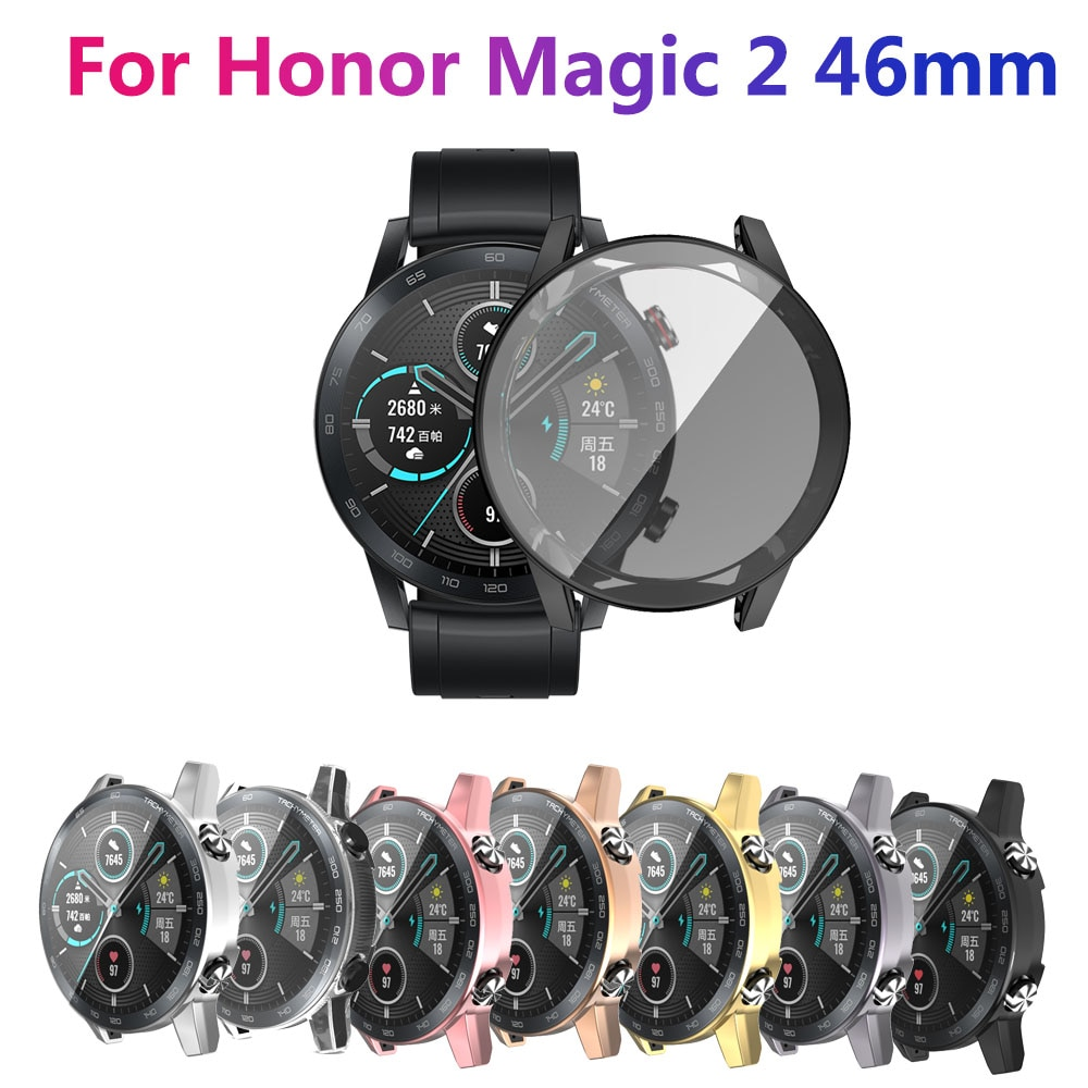 AliExpress - Electroplated tpu all-inclusive protective cover for Huawei Honor Magic watch 2 tpu soft case 46mm antifriction protection watch