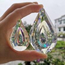 Crystal Hanging Prism Suncatcher  Windows Decoration Figurine Color Chandelier Parts Pendant DIY Home Wedding Decor Figurine