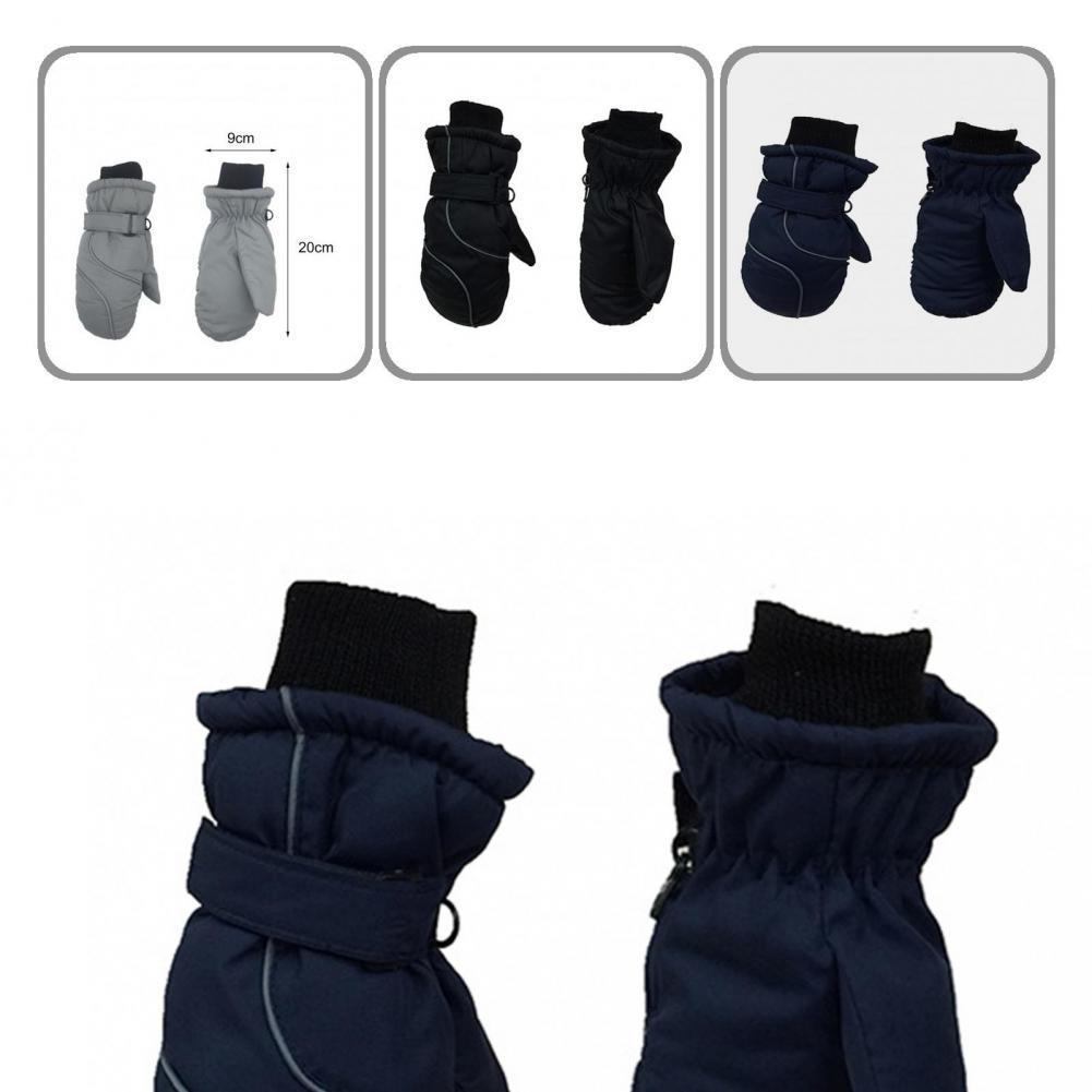 Поли-эпонж 1 пара практичные утолщенные теплые зимние лыжные перчатки варежки для снега милые детские варежки удобные для улицы