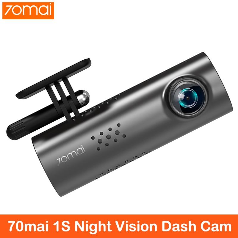 70mai cámara de salpicadero 1S APP voz en Inglés Control coche DVR 1080HD visión nocturna Cámara 70 mai cámara con grabadora para coche Cámara WIFI