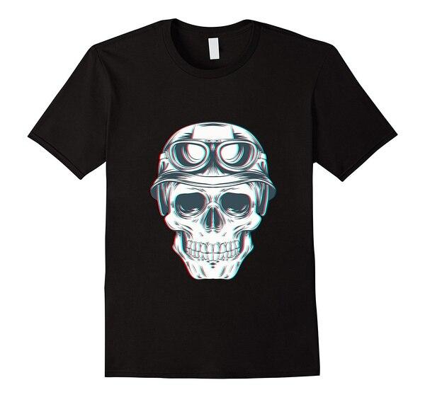 Fashion Mens Summer T-shirt Men Printed Skull Biker T-Shirt Cotton T Shirt Casual