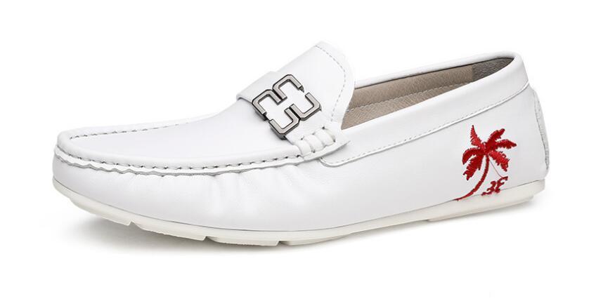 Nouveau été conduite chaussure respirant en cuir véritable chaussures pour chaussures plates pour homme Alligator modèle hommes chaussures sans lacet chaussures décontractées