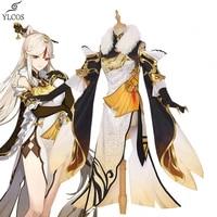genshin impact costumes ningguang cosplay halloween party game dress for women girls suit