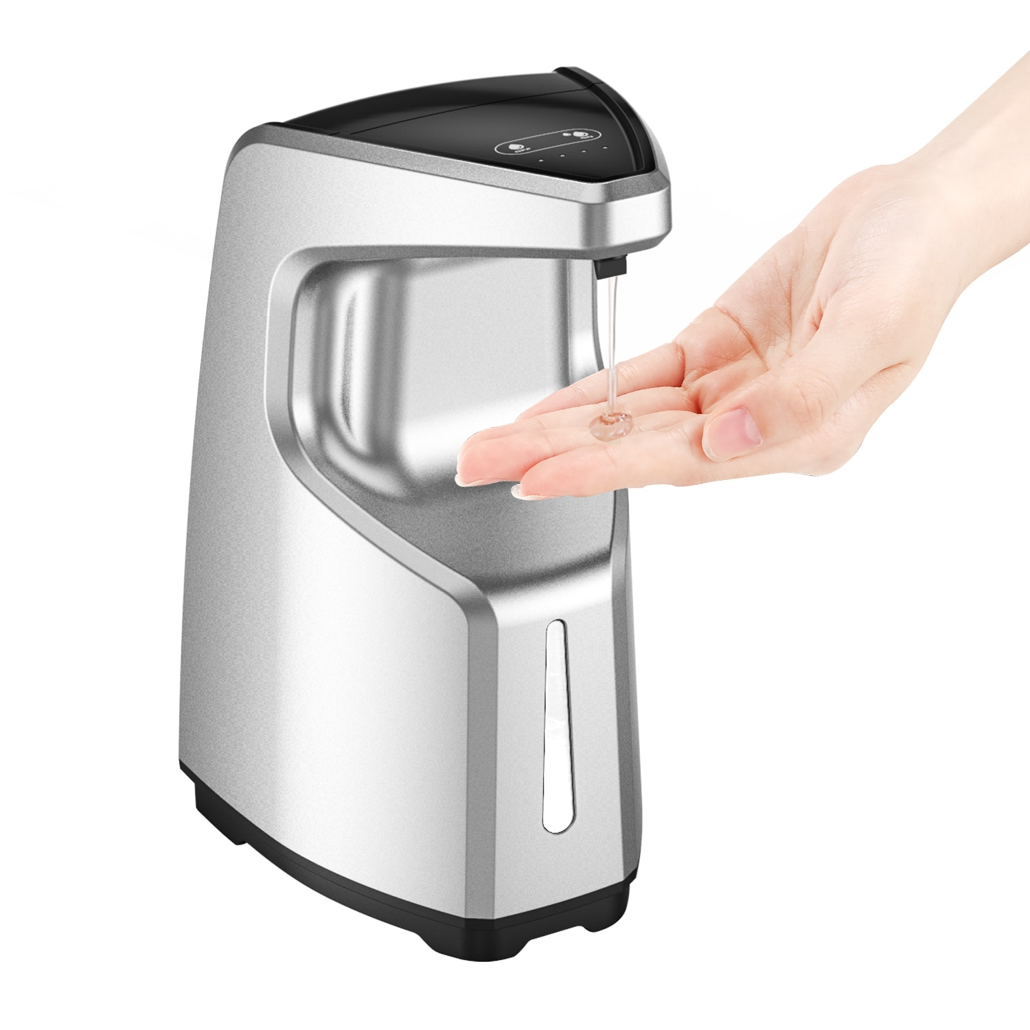 PUPWONG Liquid Soap Dispenser 450ml Automatic Intelligent Touchless Sensor Hand Sanitizer Dispenser
