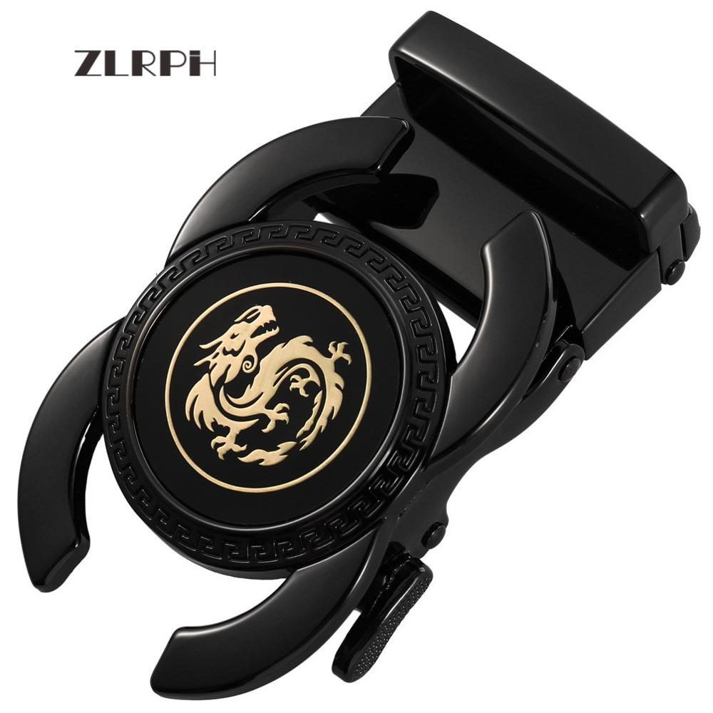 ZLRPH New style Hot Selling Famous brand High quality Luxury Automatic Belts Buckle For Men The Chinese dragon the hot selling 2018 men s quartz movement classic business style the only designated choice