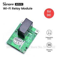 Itead SONOFF RE5V1C Wi-Fi релейный модуль переключатель 5 В DC e-Welink дистанционного питания реле инчинг/Selflock режим для умного дома работать с Алиса