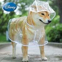 disney transparent dog raincoat large and medium sized dog samoyed teddy bichon golden retriever waterproof pet clothes poncho