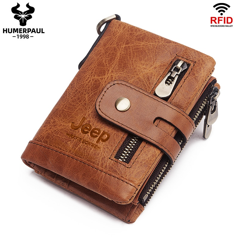 Luxury Designer Men Wallet Genuine Leather Bifold Short Wallets Male Hasp Vintage Purse Coin Pouch Multi-functional Cards Pocket
